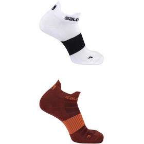 Salomon Sense - Calcetines Running - 2 Pack rojo/blanco